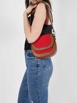 Shoulder Bag Deauville Etrier Red deauville EDEA02-vue-porte