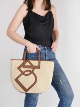 Shoulder Bag Deauville Etrier White deauville EDEA05-vue-porte