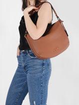Shoulder Bag Ecuyer Leather Etrier Brown ecuyer EECU07-vue-porte