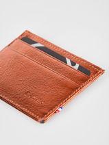 Wallet Leather Etrier Orange etincelle irisee EETI011-vue-porte