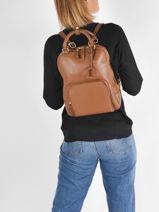 Backpack Etrier Brown tradition EHER37-vue-porte