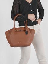 Leather Ecuyer Shoulder Bag Etrier Brown ecuyer EECU15-vue-porte
