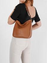 Shoulder Bag Balade Leather Etrier Brown balade EBAL17-vue-porte