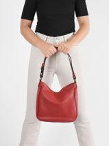 Shoulder Bag Balade Leather Etrier Red balade EBAL17-vue-porte