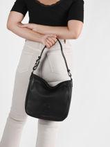 Shoulder Bag Balade Leather Etrier Black balade EBAL17-vue-porte