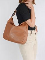 Shoulder Bag And Strap Balade Leather Etrier Brown balade EBAL16-vue-porte