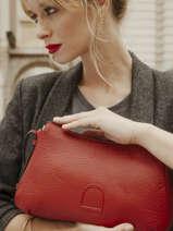 Crossbody Bag Balade Leather Etrier Red balade EBAL13