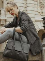 Shoulder Bag Tradition Leather Etrier Black tradition EHER27