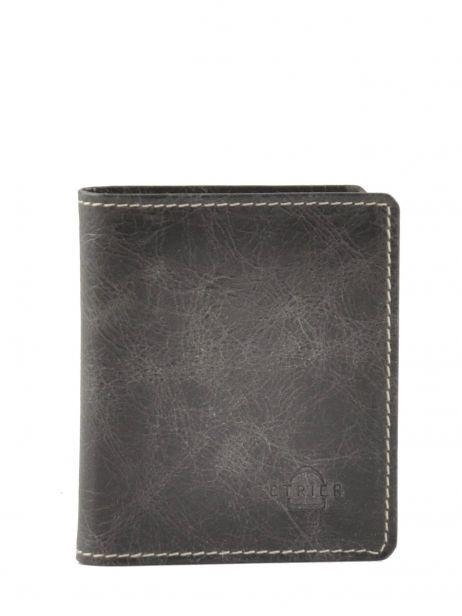 Card Holder Leather Etrier Black blanco 600021