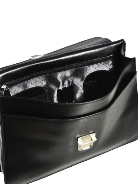Briefcase 1 Compartment Etrier Black 63039 other view 6