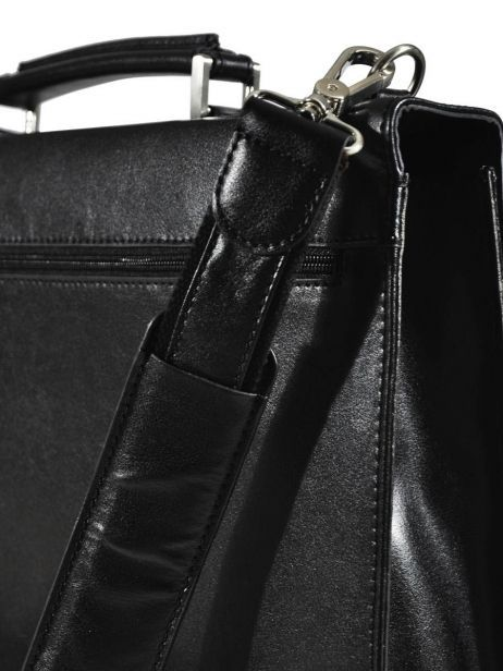 Briefcase 1 Compartment Etrier Black 63039 other view 2