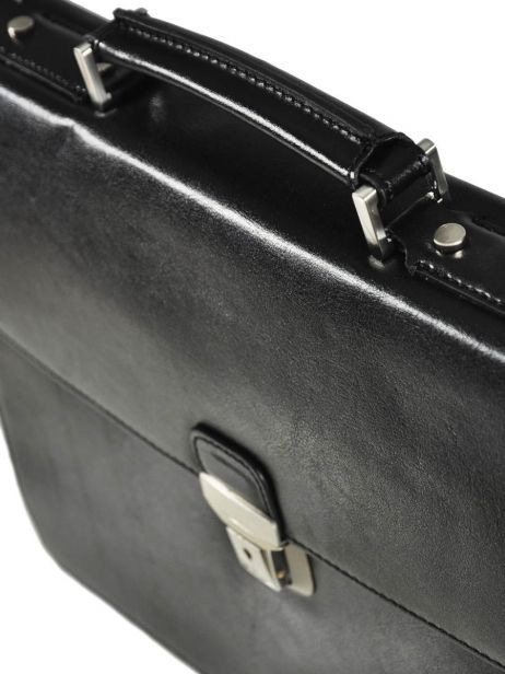 Briefcase 1 Compartment Etrier Black 63039 other view 4