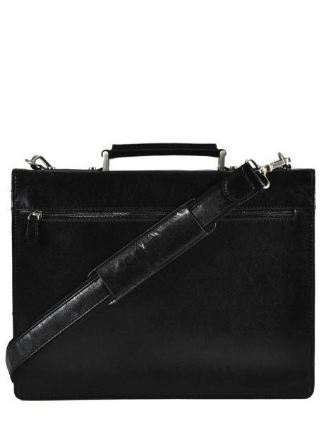 Briefcase 1 Compartment Etrier Black 63039 other view 5
