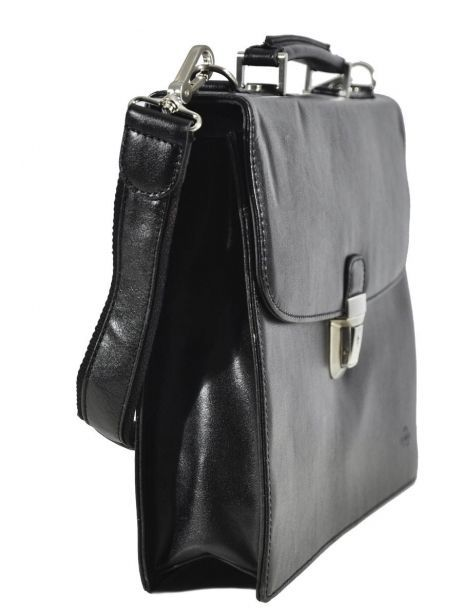 Briefcase 1 Compartment Etrier Black 63039 other view 3
