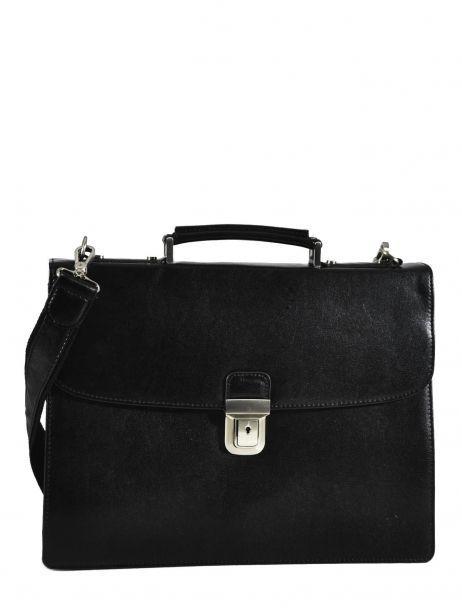 Briefcase 1 Compartment Etrier Black 63039