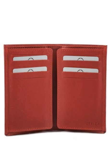 Card Holder Leather Etrier Red dakar 200006 other view 3