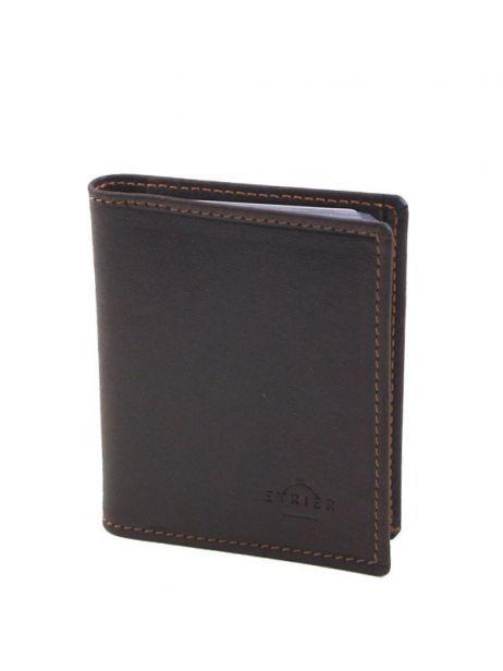 Card Holder Leather Etrier Brown oil - 00790021