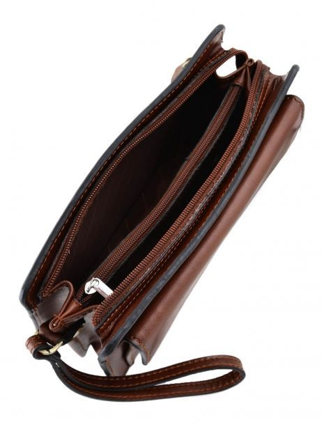 Messenger Bag 2 Compartments Etrier Brown 63011 other view 4