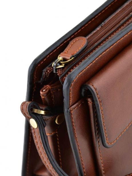 Messenger Bag 2 Compartments Etrier Brown 63011 other view 1