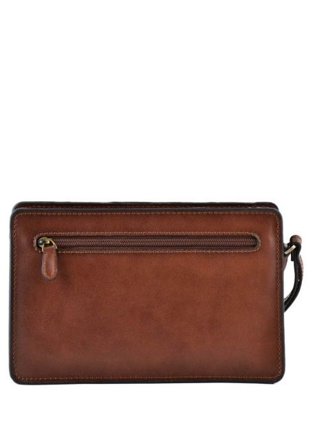 Messenger Bag 2 Compartments Etrier Brown 63011 other view 3