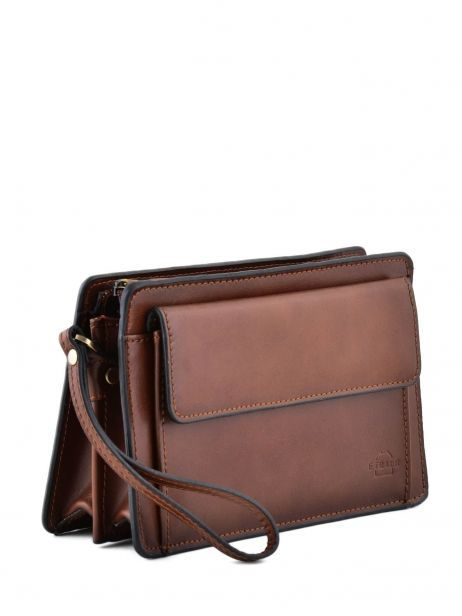 Messenger Bag 2 Compartments Etrier Brown 63011 other view 2