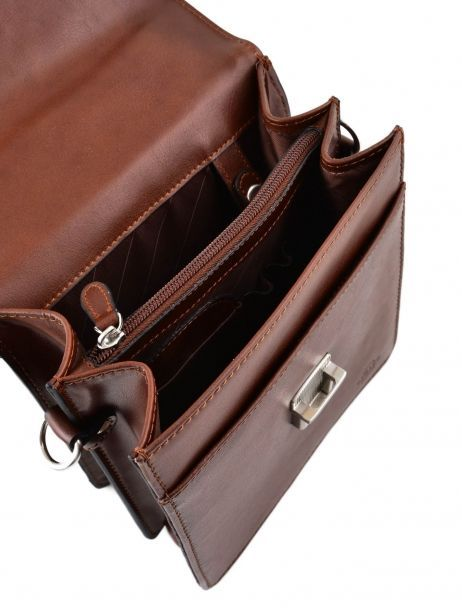 Messenger Bag 2 Compartments Etrier Brown 63026 other view 3