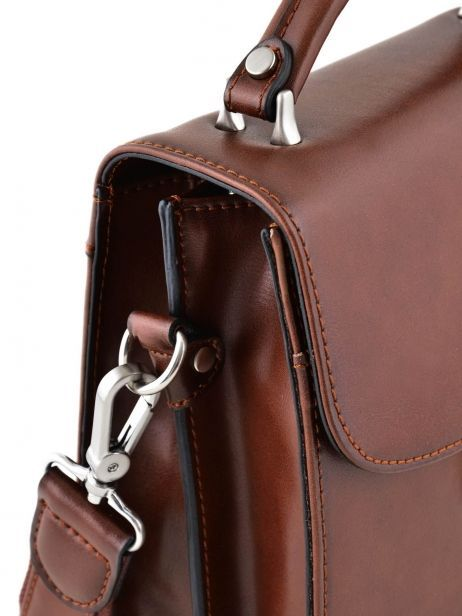 Messenger Bag 2 Compartments Etrier Brown 63026 other view 1