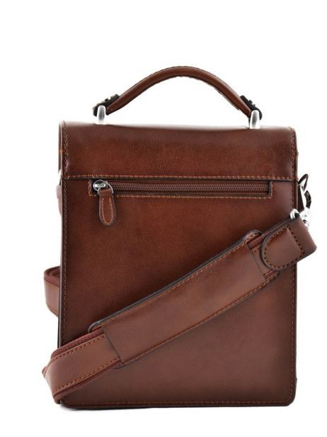 Messenger Bag 2 Compartments Etrier Brown 63026 other view 4