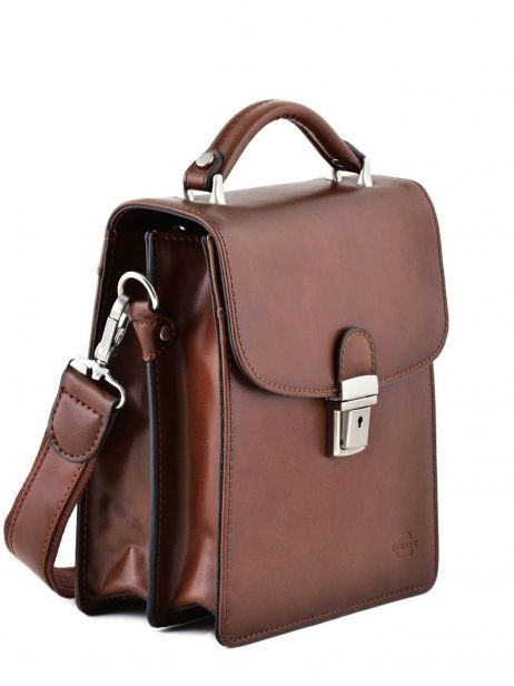 Messenger Bag 2 Compartments Etrier Brown 63026 other view 5