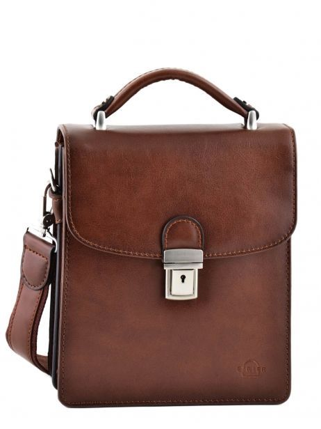 Messenger Bag 2 Compartments Etrier Brown 63026
