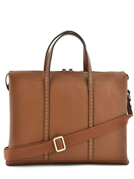 Briefcase 2 Compartments Etrier Brown tradition EHER006 other view 5