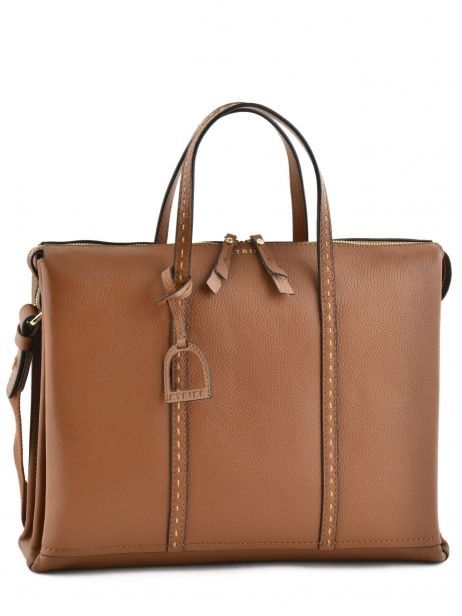 Briefcase 2 Compartments Etrier Brown tradition EHER006