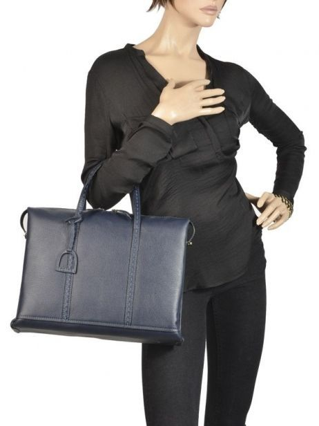 Briefcase 2 Compartments Etrier Blue tradition EHER006 other view 2