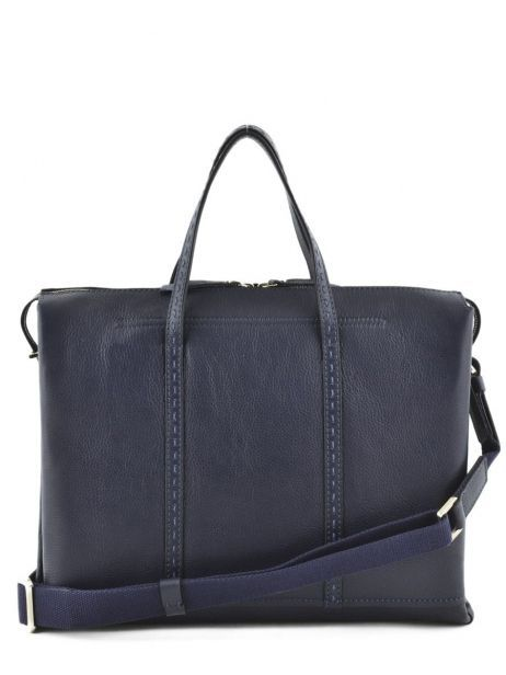 Briefcase 2 Compartments Etrier Blue tradition EHER006 other view 3