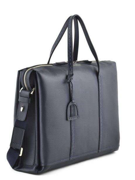 Briefcase 2 Compartments Etrier Blue tradition EHER006 other view 4