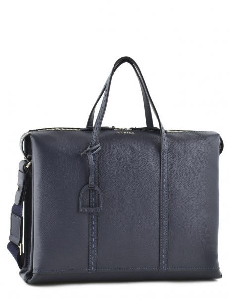 Briefcase 2 Compartments Etrier Blue tradition EHER006