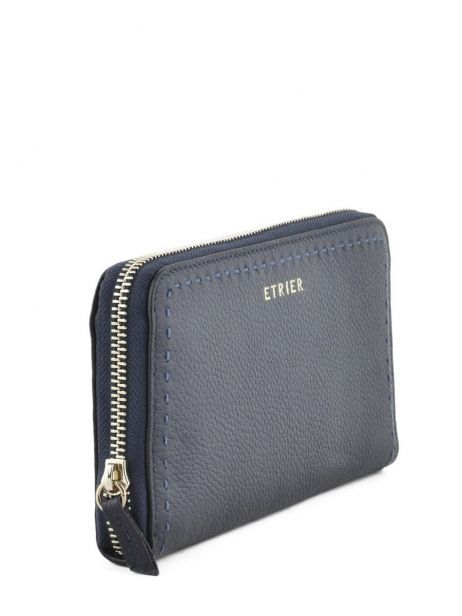 Leather Tradition Wallet Etrier Blue tradition EHER901 other view 1