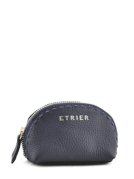 Purse Leather Etrier Black tradition EHER902