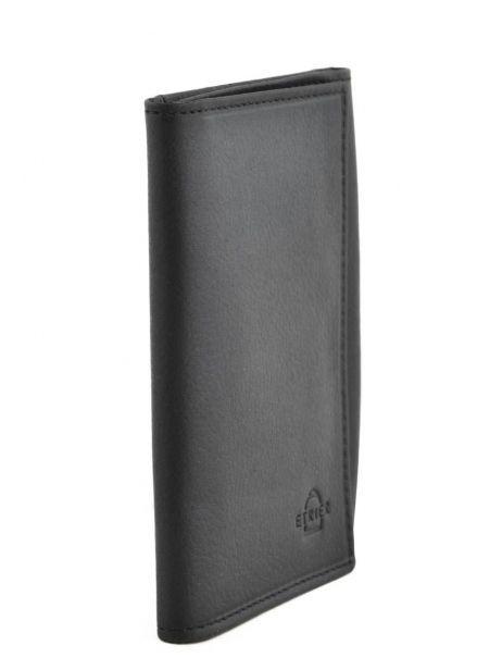 Porte-papiers Cuir Etrier Noir blanco 600024 vue secondaire 1