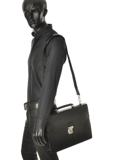 Briefcase 1 Compartment Etrier Black 63039 other view 1