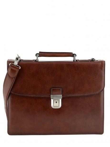 Briefcase 1 Compartment Etrier Brown 63039