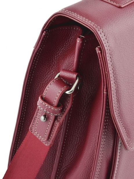 Briefcase 2 Compartments Etrier Red flandres 22148 other view 1