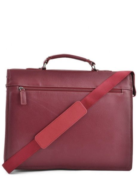 Briefcase 2 Compartments Etrier Red flandres 22148 other view 4
