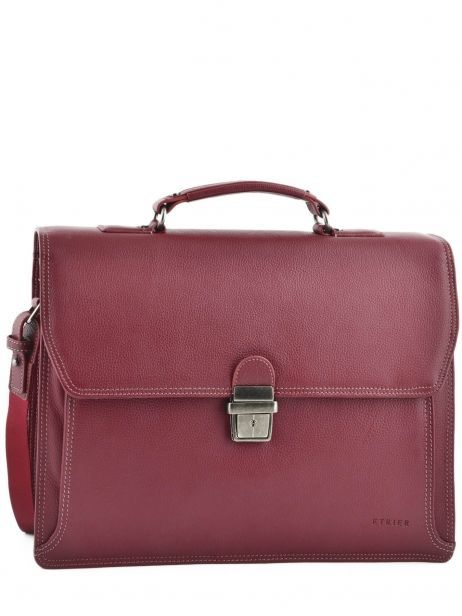 Briefcase 2 Compartments Etrier Red flandres 22148