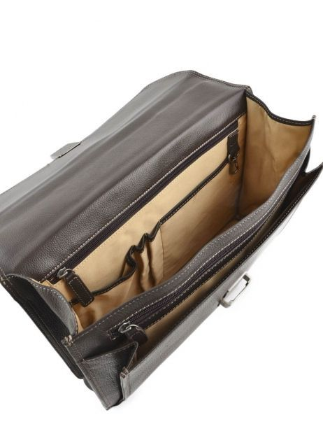 Briefcase 1 Compartment Etrier Brown flandres 22213 other view 5