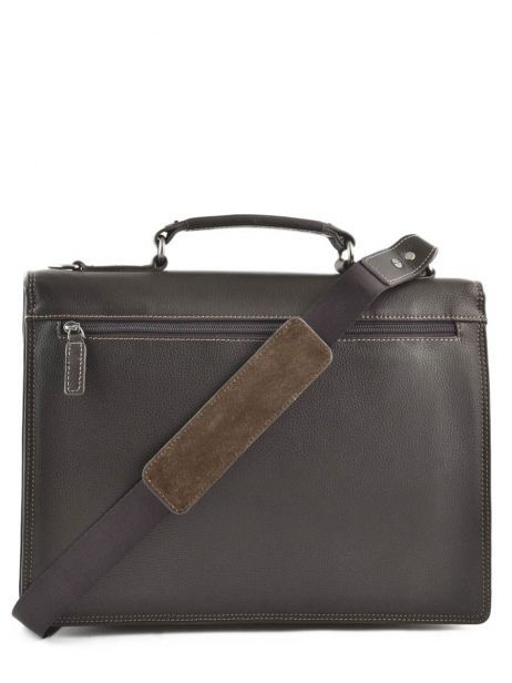 Briefcase 1 Compartment Etrier Brown flandres 22213 other view 4