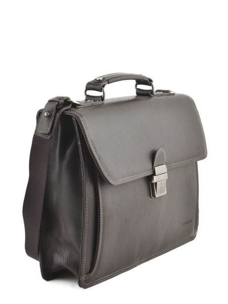 Briefcase 1 Compartment Etrier Brown flandres 22213 other view 3