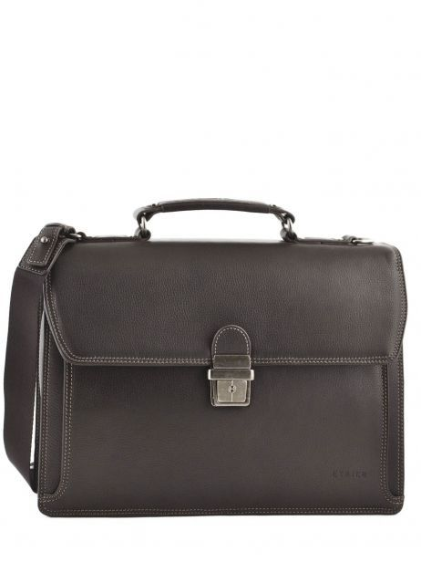 Briefcase 1 Compartment Etrier Brown flandres 22213