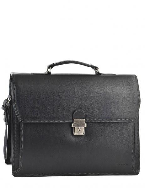 Briefcase 3 Compartments Etrier Black flandres 22217