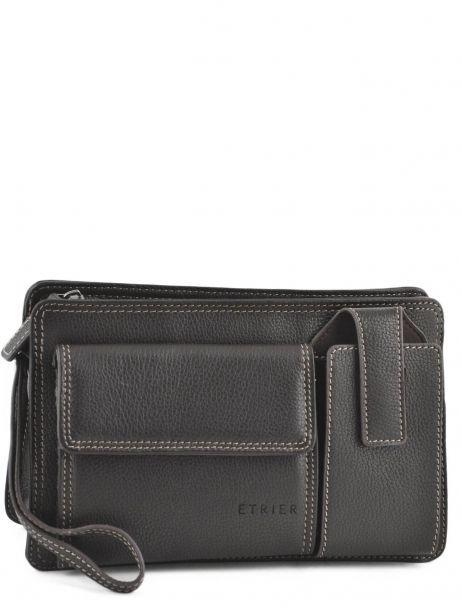 Messenger Bag 2 Compartments Etrier Brown flandres 22239